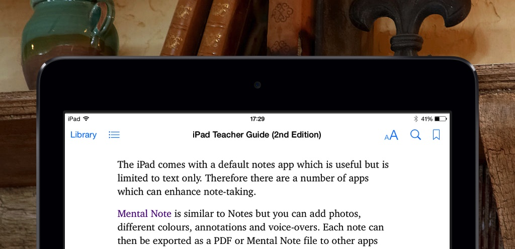 Mental Note appears in UK iPad Teacher Guide