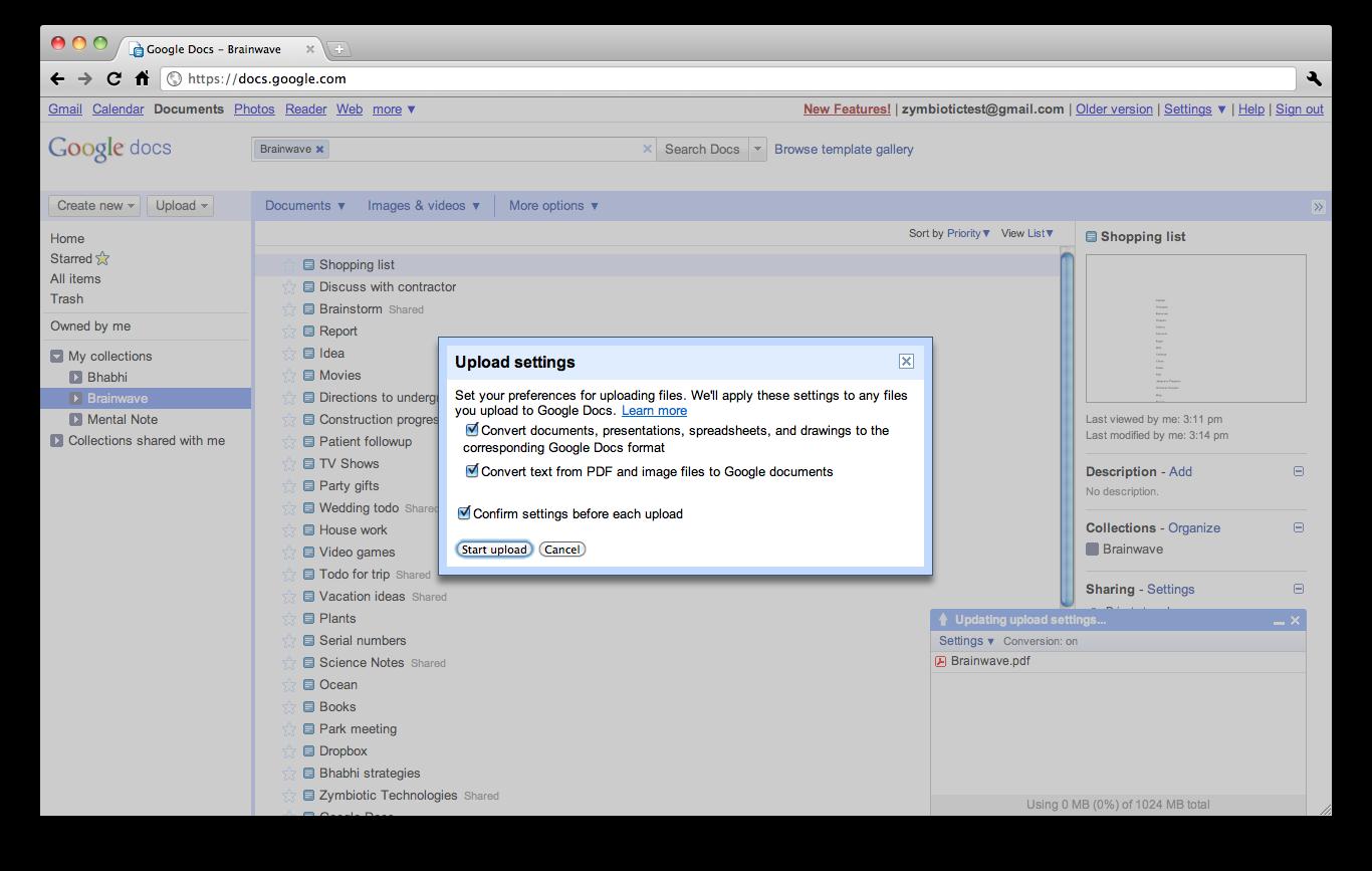 google docs import pdf